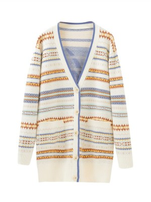 IU – Diamond Pattern Knitted Long Cardigan (1)