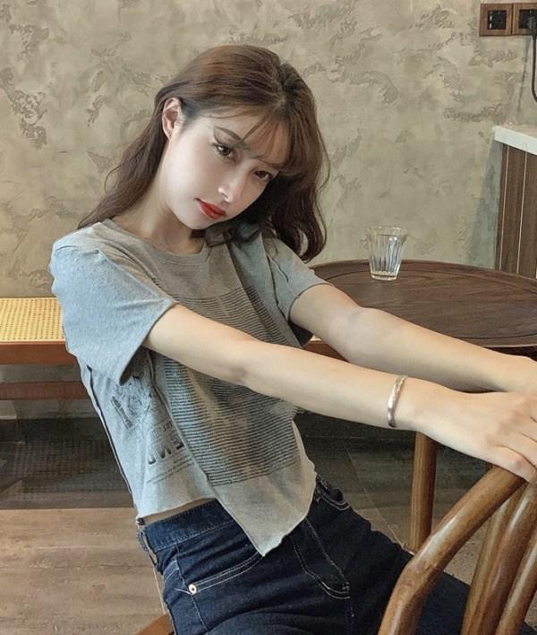 White Irregular Cut Printed T-Shirt   Jennie – BlackPink