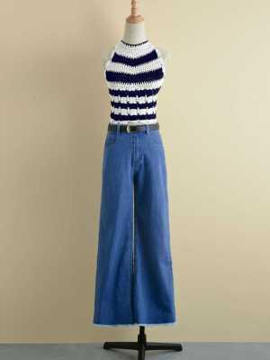 Joy – Red Velvet – Joy – Red Velvet – Striped Crochet Halter Top (3)