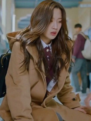 Khaki Hooded Coat | Lim Joo Kyung – True Beauty