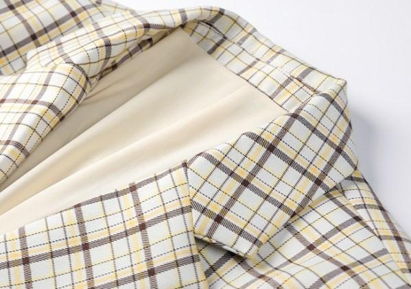Yellow Plaid Suit Jacket   Lisa – Blackpink