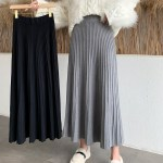 Grey Pleated Long Skirt | Soojin – (G)I-DLE