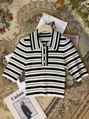 Ryujin – ITZY Stripe Patterned Crop Shirt (4)