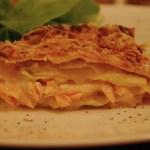 Lasagnes aux poireaux et au saumon