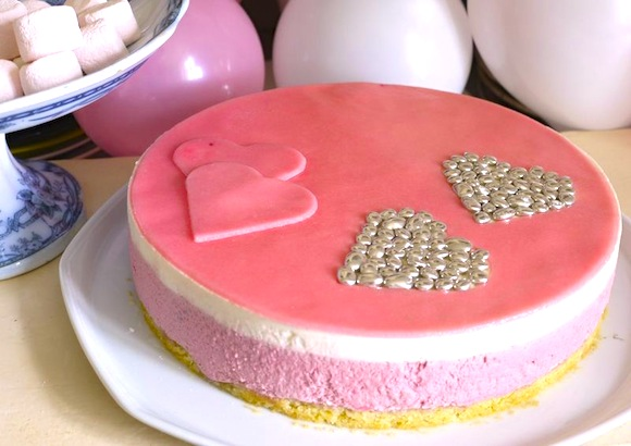 bavarois rose girly anniversaire
