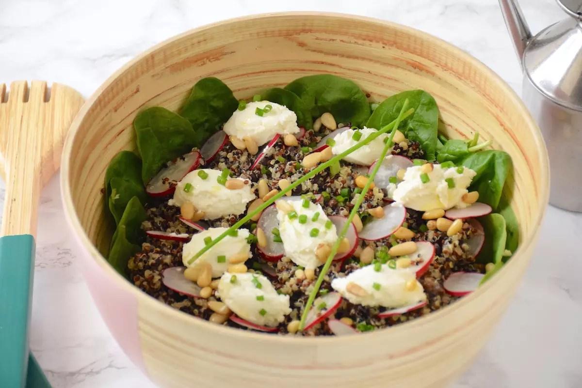 Salade de quinoa lentille radis chèvre de Cojean
