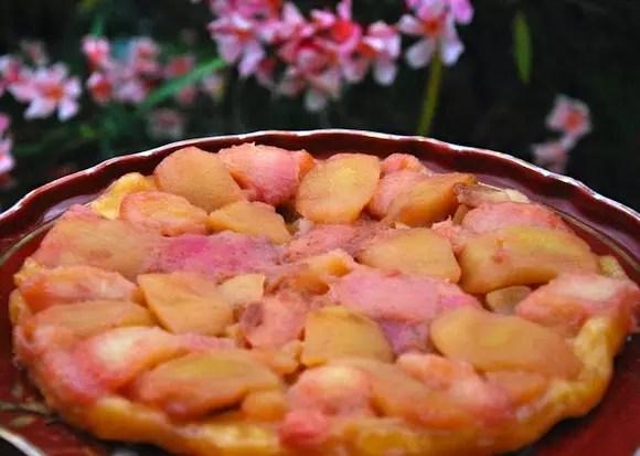 Tarte tatin pommes-pêches