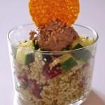 Salade céréales-courgettes-tapenade-cranberries