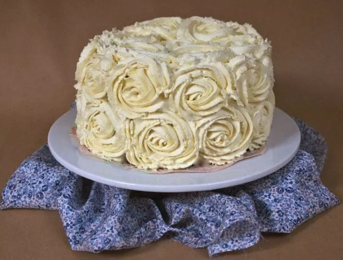 cheesecake glacage roses chantilly