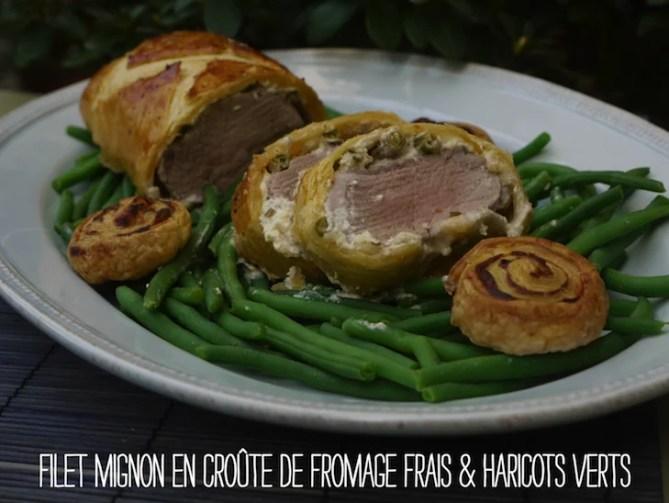 filet-mignon-croute-fromage-frais-haricots