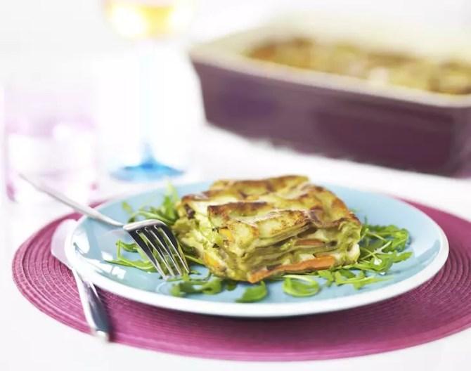 lasagnes de légumes au parmesan