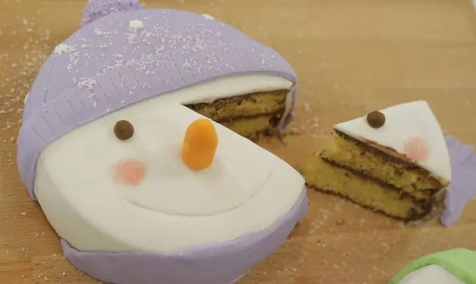 gâteau bonhomme de neige en vidéo