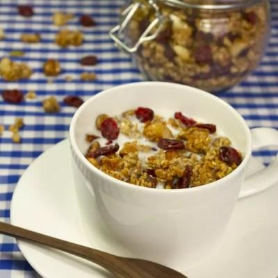 Granola maison aux cranberries [Résultats du Concours Eat Your Box inside]