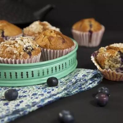 Parfaits muffins blueberry, macadamia, chocolat blanc