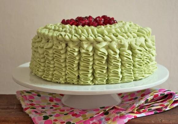 glacage froufrou ruffle cake