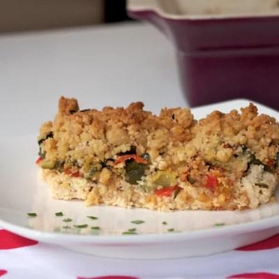 Crumble salé légumes et poulet de Céc