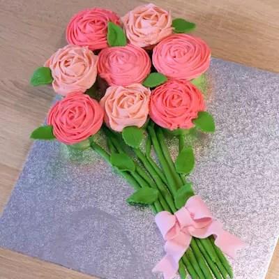 Bouquet de cupcakes vanille