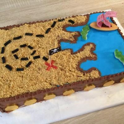 Gâteau Pirate Carte aux trésors