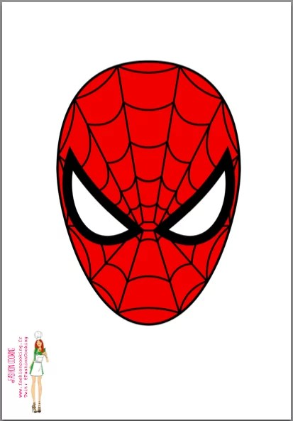 Patron tete spiderman pour gateau