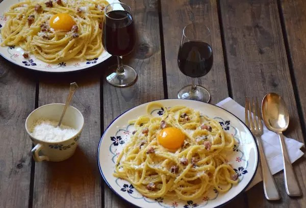 spaghetti carbonara sans crème
