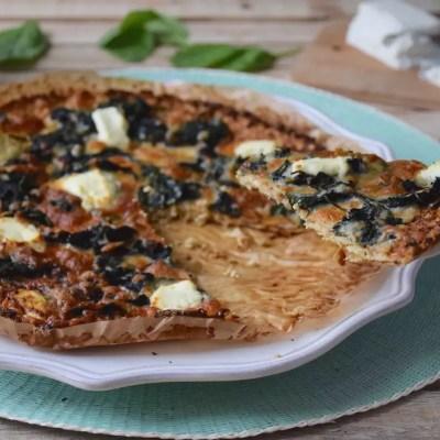 Pizza chou-fleur chèvre-épinards