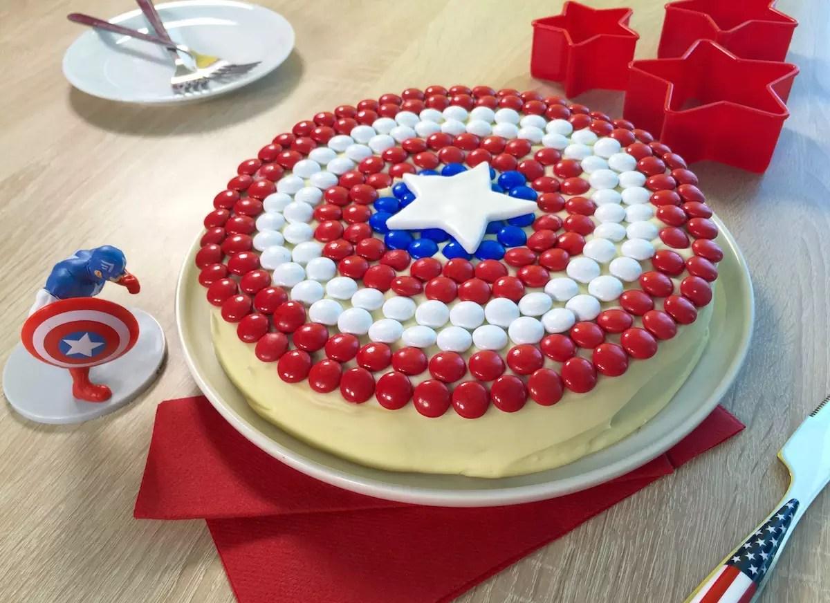 gteau captain america - Gateau Anniversaire Super Heros