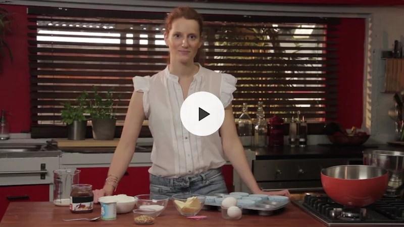 Muffins coeur de Nutella en vidéo