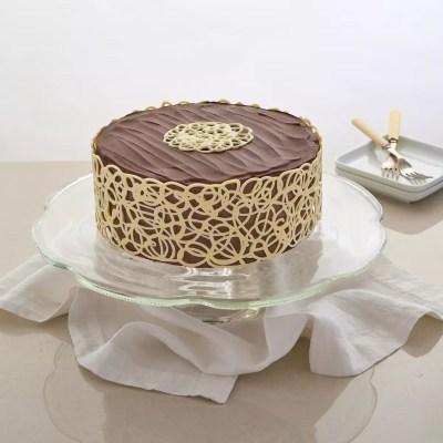 Parfait Mud Cake et sa déco dentelle