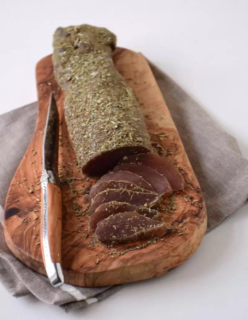 Cured pork tenderloin