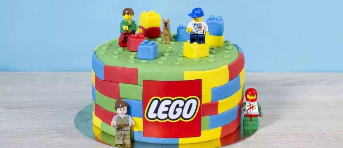 Briques colorées – Gâteau Lego facile