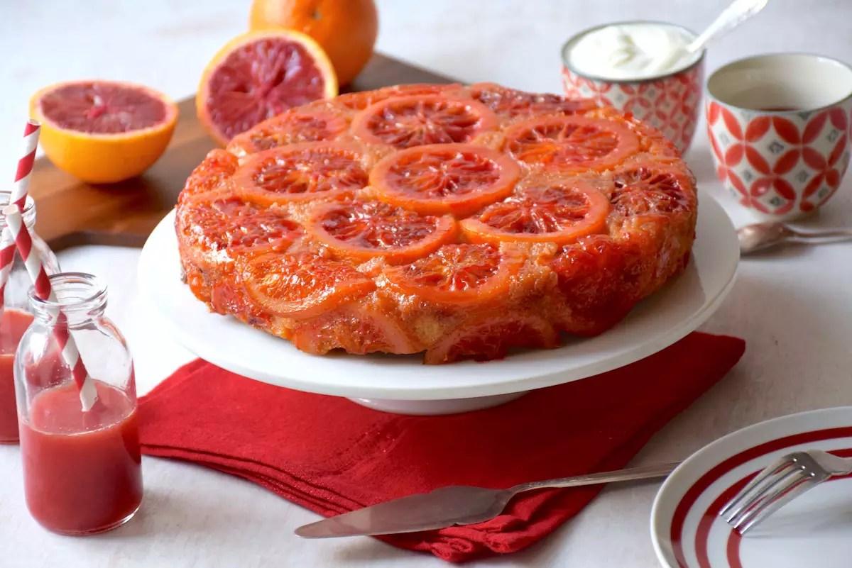 Gâteau renversé oranges sanguines & polenta