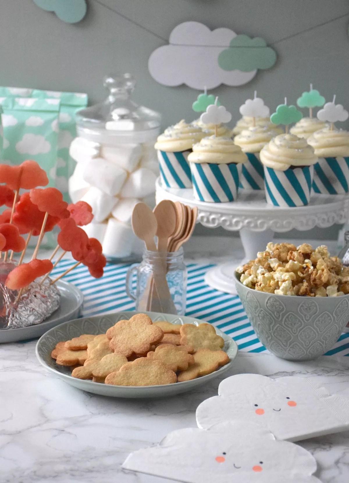 buffet pour enfant thème nuage
