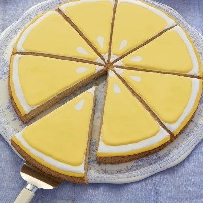 Lemon en trompe-l'œil – Sablé géant rondelle de citron