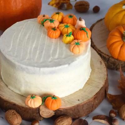 Automne ou Halloween? – Gâteau au potimarron et ses décos citrouilles