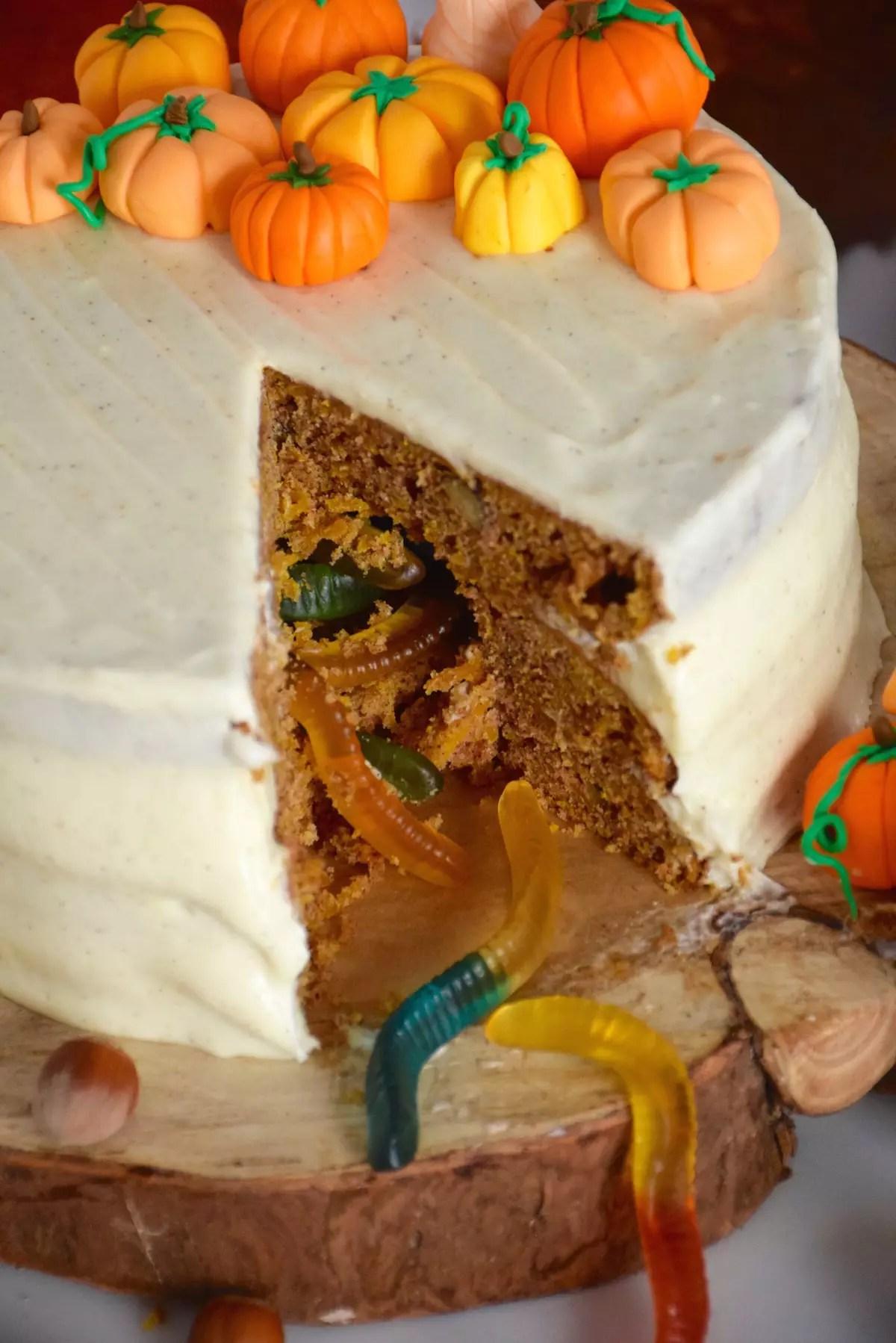 Gâteau au potimarron & citrouilles d'Halloween