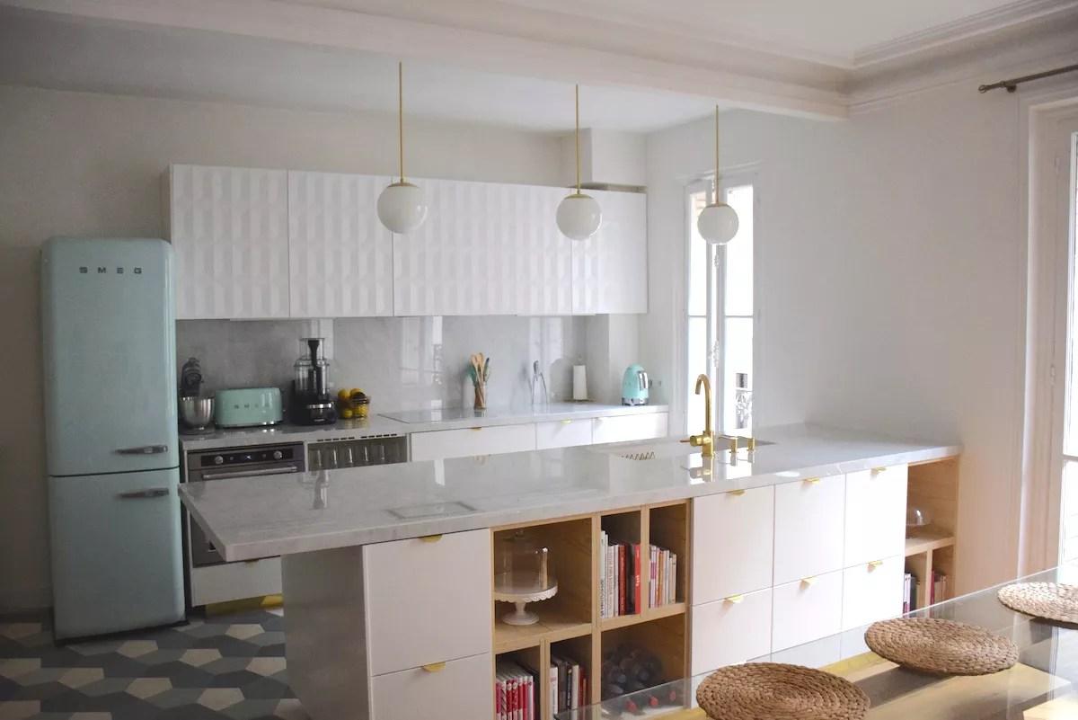 ma nouvelle cuisine or vert d 39 eau marbre anne sophie fashioncooking. Black Bedroom Furniture Sets. Home Design Ideas
