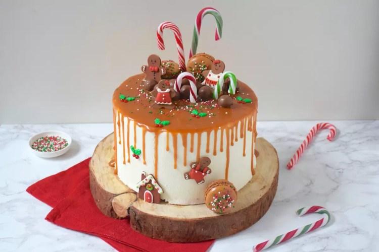 Drip cake de Noël