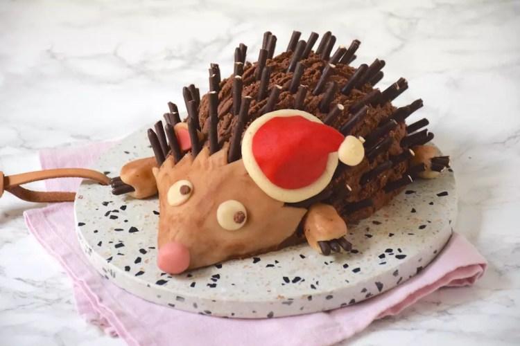 Edmond le hérisson – Bûche hérisson chocolat-marrons