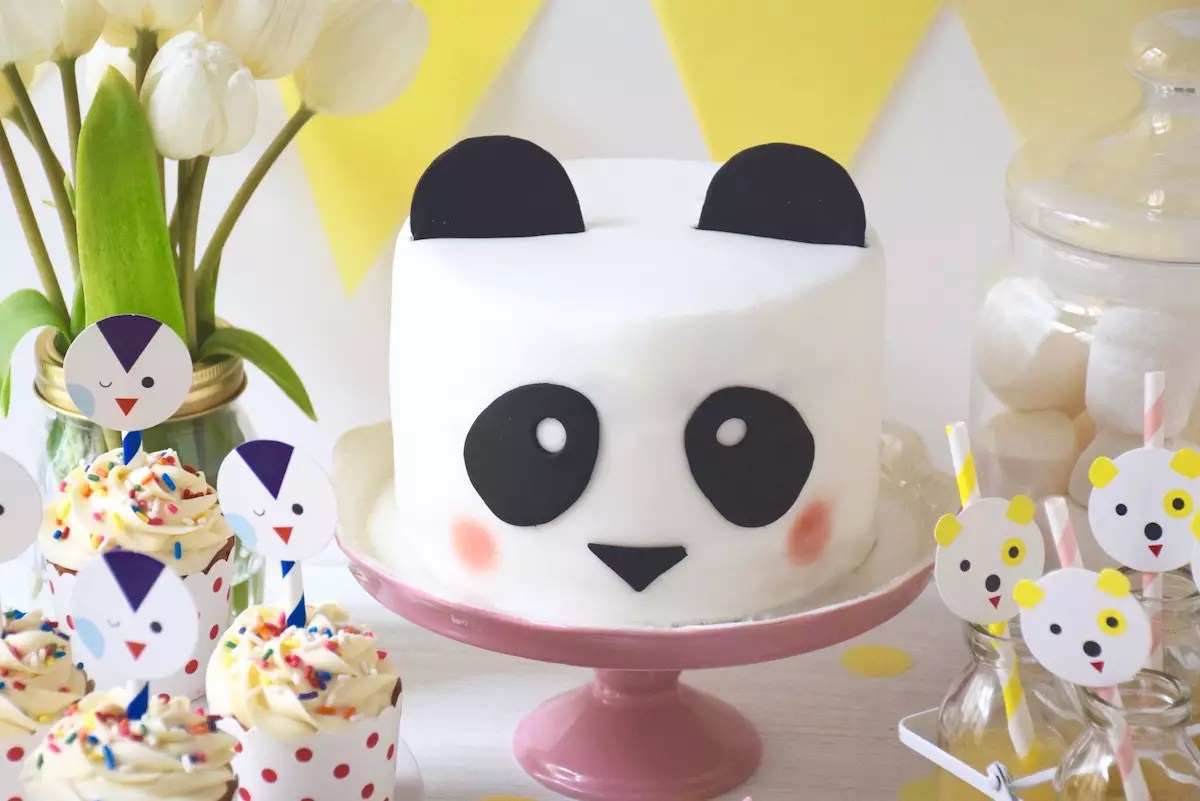 Sweet Table facile animaux et gâteau panda