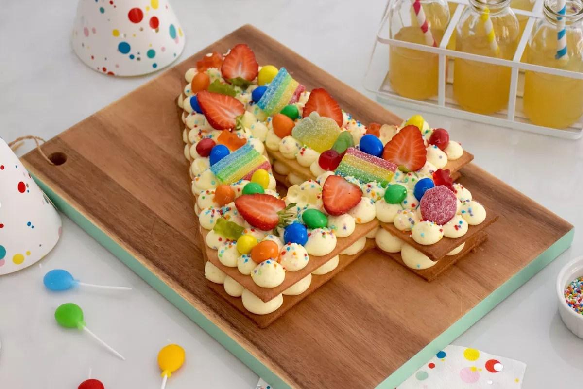 Number Cake enfant vanille fraise