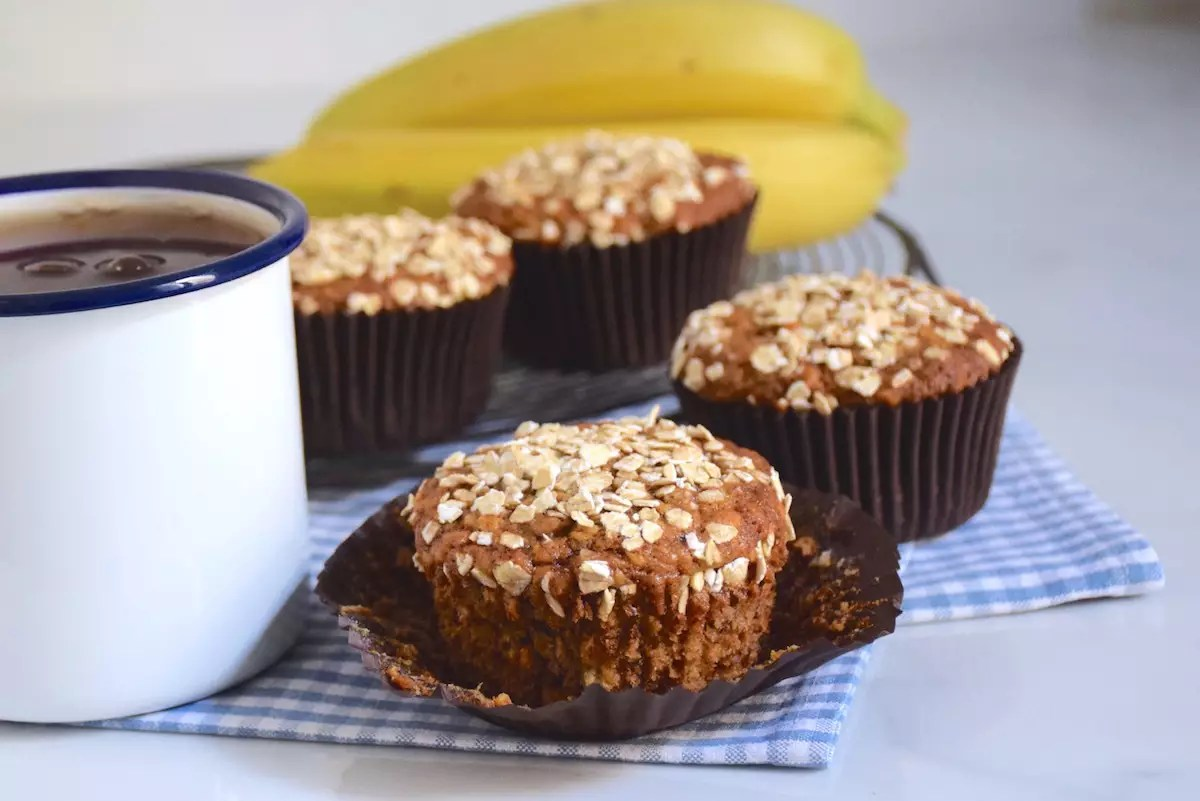 Muffins banana bread à l'avoine
