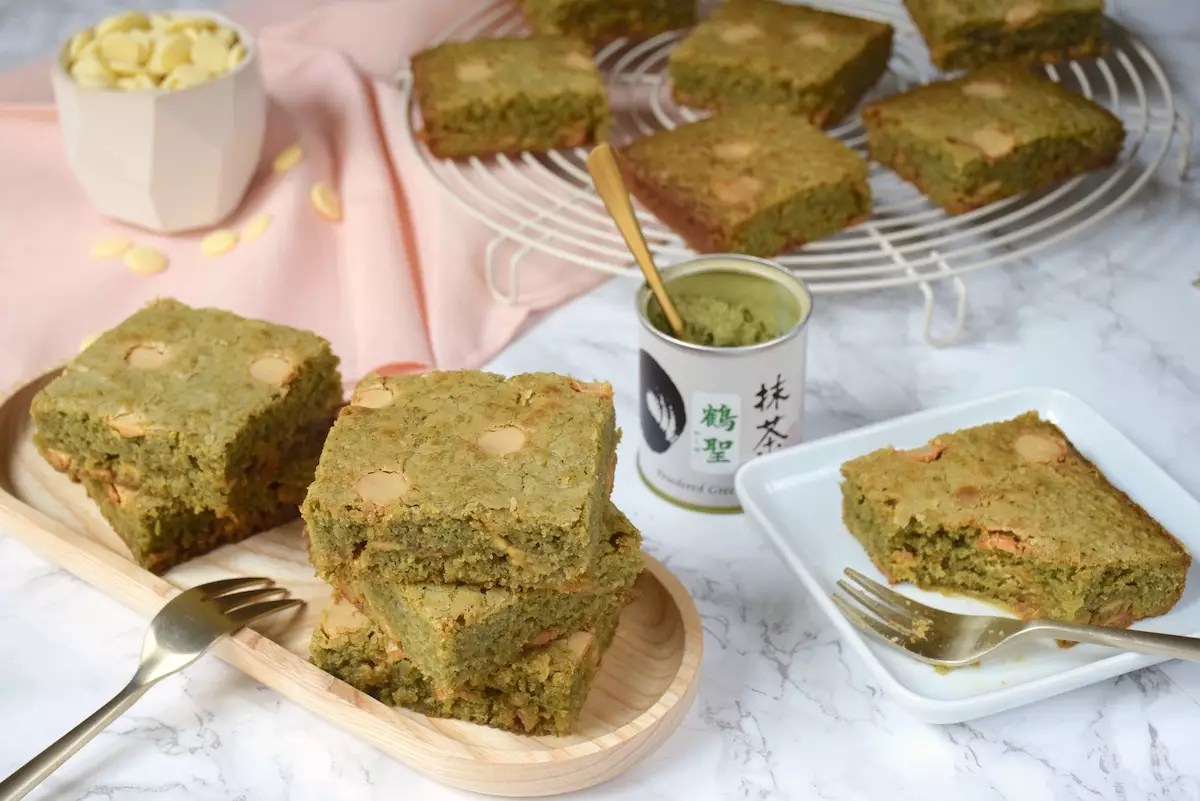 Blondies au matcha