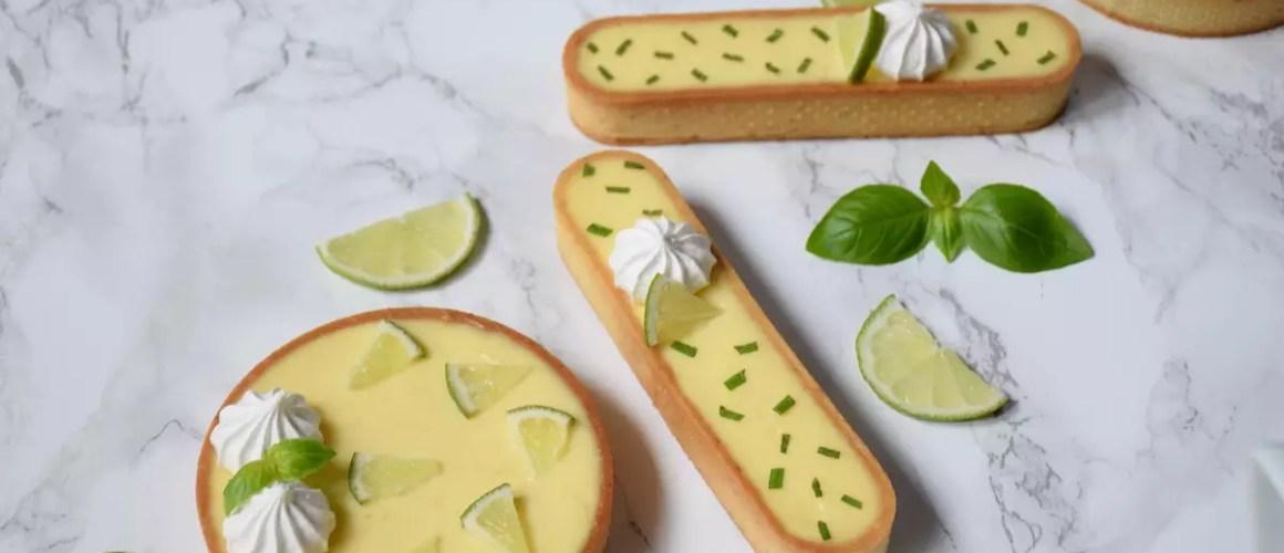 Tarte citron vert basilic de Jacques Genin
