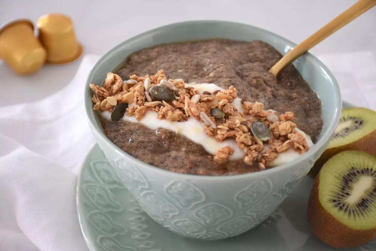 Porridge de chia au café