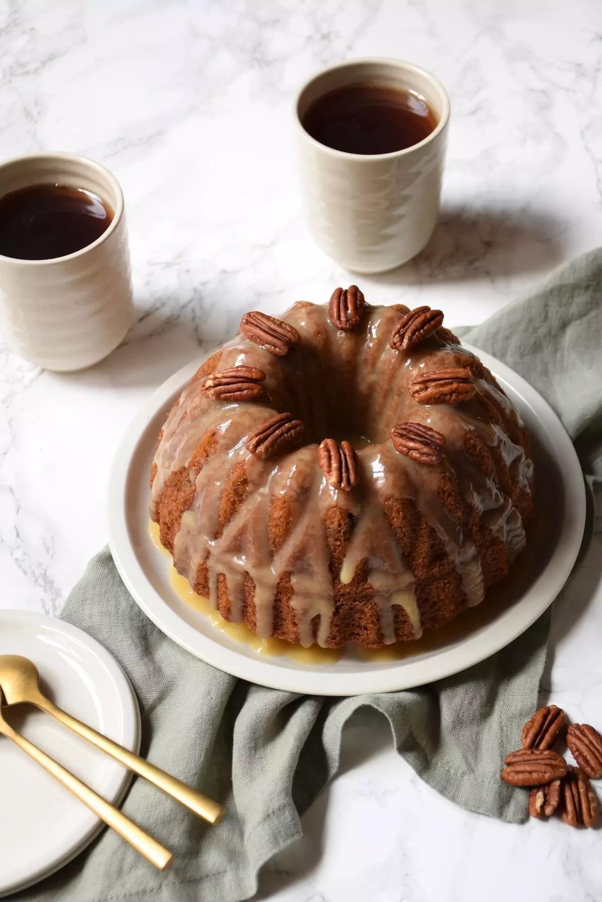 Bundt Cake sirop d'érable pécan