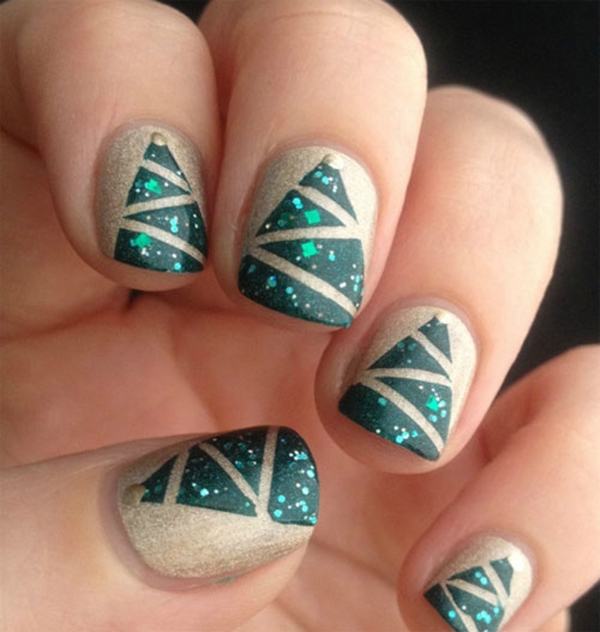 Easy Christmas Nail Art Designs And Ideas 29