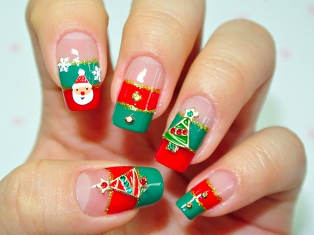 Easy Christmas Nail Art Designs And Ideas 22
