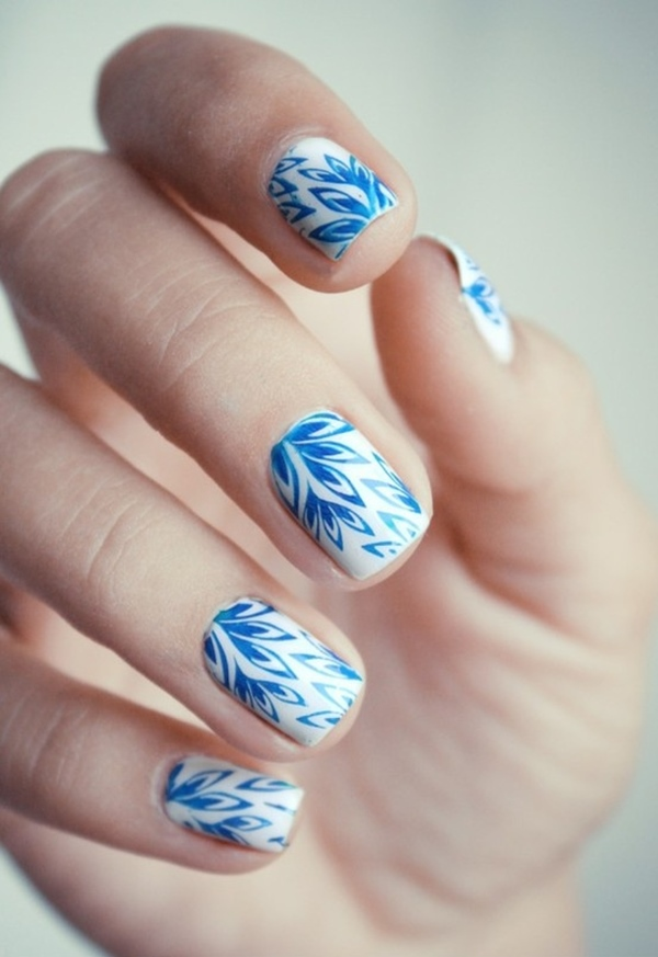 Are You Looking For Perfect Lazy Summer Nail Art Ideas Try This To E Up Your Regular Pattern Simplistic Design Bines White And