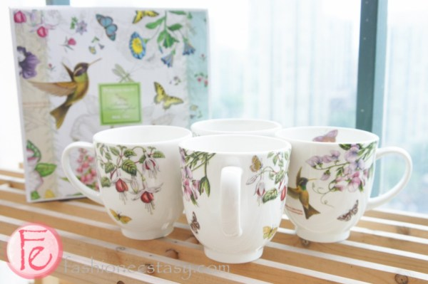 Portmeirion Botanic Hummingbird mug set of 4