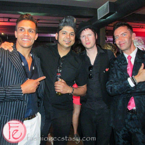 From left, Jose Garcia, Ian D'Sa (Billy Talent)  Cone Mccaslin ( Sum 41) Jewellery Designer Peter Christian-Rex Nielsen